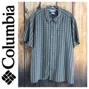 💸Men's COLUMBIA shirt sleeve casual shirt size L